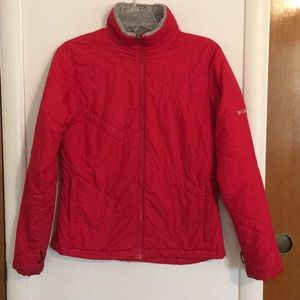 Columbia red jacket small interchange winter